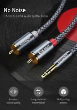 Essager Audio Kabel 50cm AUX Cinch Klinke 3,5mm Stecker zu 2* RCA Chinch Stecker