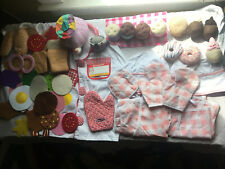 Felt Fabric Pretend Play Kitchen Food Chef Costume And Aprons Huge Lot