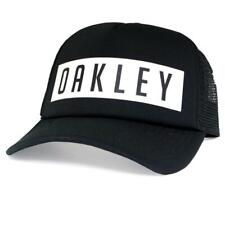 Oakley Stacked Trucker Cap Jet Black Mens Boys Snapback Adjustable Baseball Hat