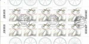 Bund Zehnerbogen  3320  -  200 Jahre Fahrrad   Tagesstempel Wennigsen Deister oo
