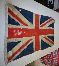 More details for ww2 era british vintage panel stitched union jack flag : old