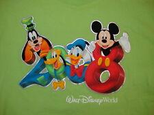 Walt Disney World 2008 Micky Mouse Donald Pluto & Goofy Graphic Print T Shirt L