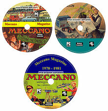 Compleate Meccano Magazine Collection 3x DVD Set 400 Bonus Manuals for Pc/mac