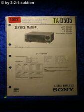 Sony Service Manual TA D505 Amplifier  (#1552)