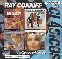 Ray Conniff Recupera Tus Clasicos 4CD New Nuevo caja de carton