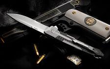 Spartan Blades Knife Kranos Plain Titanium Carbon Fiber Authorized Dealer