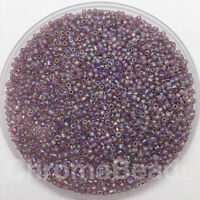 50g glass seed beads - Purple Rainbow - approx 2mm (size 11/0) craft, jewellery