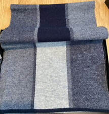 Men's Riona Wool Blue Grey Warm Scarf New