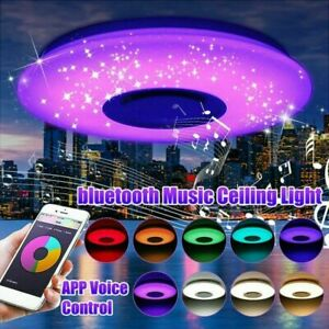 60W RGB LED Music Ceiling Light with Bluetooth Speaker Ceiling lamp APP /Remote