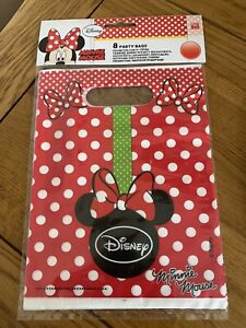 Minnie Mouse Party Bags X 8 Disney