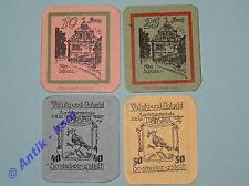 4 x Notgeld Trappstadt , 5 Scheine german emergency money in  kfr/unc