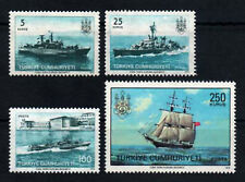 1973 TURKEY 200th ANN.OF  NAVAL FORCES WAR SHIP SAILING BOAT COMPLETE SET MNH**