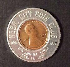 1973 Nebraska City Coin Club 1972 D Encased Cent