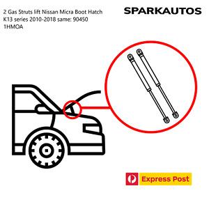 2 Gas Struts lift Nissan Micra Boot Hatch K13 2010-2018 STABILUS 90450 1HMOA