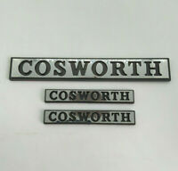 ⭐🇫🇷 NEUF x3 MONOGRAMMES COSWORTH COFFRE AILES FORD SIERRA RS 4x4 SAPPHIRE LOGO
