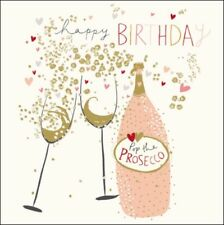 Pop The Prosecco Happy Birthday Greeting Card Peach & Prosecco Range Cards