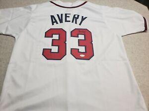 Steve Avery Autographed Jersey Atlanta Braves Great Certified by JSA