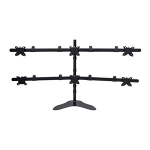 Hex (6) Monitor Free Standing Desk Mount for 15-30 Inch Monitors