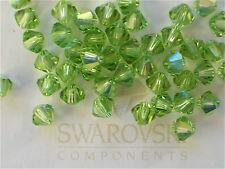 24 Peridot AB Swarovski Crystal Beads Bicone 5328 4mm