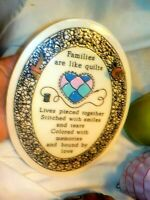 Trinity Pottery Ceramic Wall Hanging Sign Families are like Quilts Hand Crafted