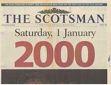 Original Scotsman 1 January 2000 Millennium 21st Century Paper Celebrates