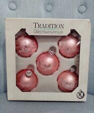 Vintage palline vetro rosa Christmas Natale albero glas
