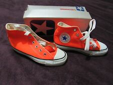 NIB VINTAGE CONVERSE BRIGHT ORANGE ALL STAR CHUCK TAYLOR KIDS 13.5 MADE IN USA