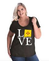 Love New Mexico  Women Curvy Plus Size Scoopneck Tee