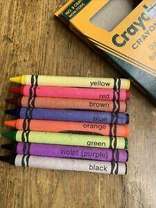 Vintage 1985 Crayola Crayons New Unused 8 Pack