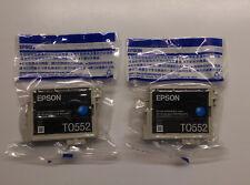 2 x EPSON t0552 CIANO Anatra STYLUS PHOTO FOTO r240 r245 rx420 rx425 rx520