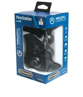 PowerA PC Playstation 3 Black Wireless Controller PS3 USB RF Receiver Vibration