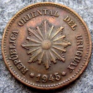 URUGUAY 1945 So 2 CENTESIMOS