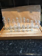 New listing16 Small Thin Tall Chemist Medicine Vintage Antique Bottles Wedding Decoration