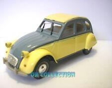 """1:43 CITROEN 2 CV (2 CAVALLI) -modello """"DOLLY"""" 1985 giallo e grigio -marca Norev"""