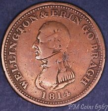 1814 Wellington erin go bragh IRLANDE 1d ONE PENNY TOKEN COIN * [6567]