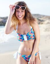 BRAVISSIMO Candy Heart Bikini Top In Multi Print By Hoola Swimwear (K1)