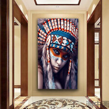 Canvas Painting Oil Painting Wall Poster Indian Girl Prints Art Decor Picture