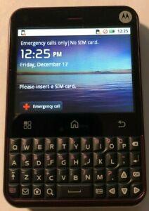 READ 1ST Motorola Cham Purple MB502 (T-Mobile) Fast Shipping MINT Used Test