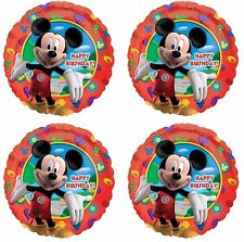 """4x Disney Mickey Mouse ClubHouse  Birthday Party 18"""" inch Foil Mylar Balloon"""