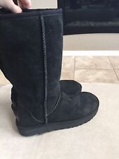 UGG Australia Classic Tall Boot Size 5 Or 36 Black S/n 1016224 Soft Suede
