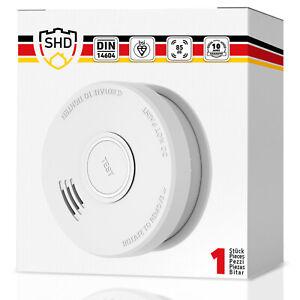Rauchmelder Set DIN EN 14604, 10 Jahre Garantie, Feuermelder mit 9V Batterie