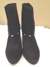 Jennifer Lopez  New Boots Black Suede Size 6.5M
