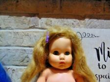 """Vintage 50's Horseman Sleepy Eyes Rubber Squeak Doll With Clothing * 17"""" Tall"""