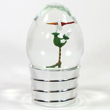 """Department 56 ANGELA THE GOOSE 7"""" Lightbulb Waterglobe Snow Patience Brewster"""