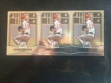 Jared Weaver 2010 Bowman Platinum #71 Lot Of 3 Angels