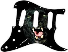 Stratocaster Pickguard Custom Fender SSS 11 Hole Guitar Pick Guard Black Panther