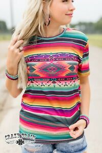 Crazy Train Shirt Sundae Soul Tee Colorful Southwest NFR Casual size XS-3X HOT