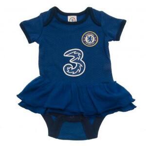 Chelsea FC Baby Girls Kit Bodysuit Vest Tutu Dress 0-3 to 12-18 Months