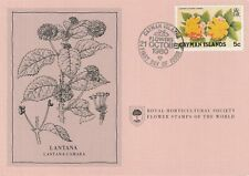Flower Stamps of The World 1980 FDC card Cayman Islands