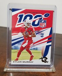 2019 KYLER MURRAY ARIZONA CARDINALS PANINI 100 YEARS NFL ROOKIE #3 RC
